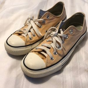 CONVERSE ALL STAR men's low sneakers cream size 6